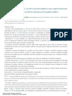 Ordonanta de Urgenta Nr 15 2012 Privind Stabilirea Unor Masuri Financiare in Domeniul Asigurarilor Sociale de Sanatate Si Al Finantelor Publice