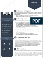 Blue Creative Resume for Administration-WPS Office