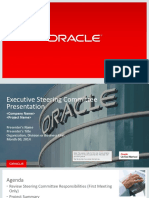Executive steering committee for Oracle ERP Projects Sample