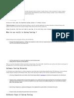 System Testing Description