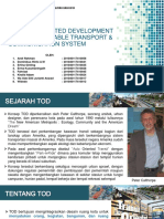 Transit Oriented Development (Tod), Sustainable Transport & Communication System