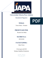Tarea #5 - Español II