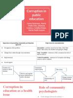 Corruption in Public Education