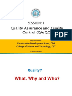 1. Quality Assurance and Quality Control