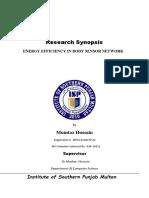 Synopsis_proposal_Energy Efficiency in Body Sensor Networks_-_isp-2