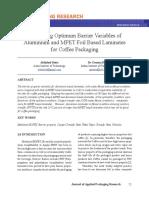 Otimização Barreiras em embalagens