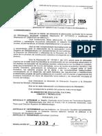 Resolucion 07333 15 Bibliotecología