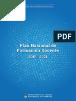 Plan Nacional de Formacion Docente1