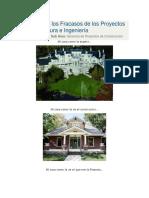 Razones de Los Fracasos de Los Proyectos de Arquitectura e Ingeniería