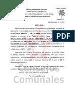 CARTA AVAL PARA CULMINACION DE SERVICIO COMUNITARIO