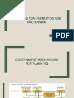 Planning administration profession