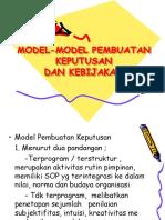 Model Pembuatan Kpts &Kebijakan