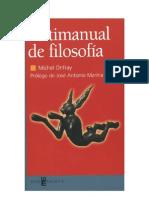 Antimanual de Filosofía (M. Onfray)