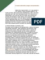 Efectele Reducerii Masei Nefronilor Asupra Mecanismelor Excretorii Renale