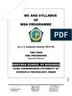 MBA General Syl