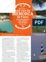 Menorca x 7 Descubrir Menorca Muestra