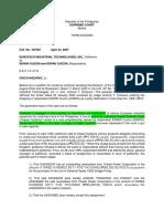 1. Eurotech vs Cuizon Apr 23, 2007 GR No. 167552