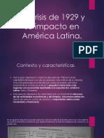 La crisis de 1929 y su impacto en América Latina