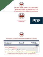 Como Matricularte a Rue Superior para la certificación en el marco de las jornadas de capacitación MEC GREMIOS