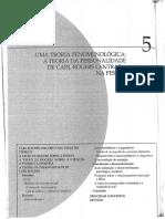 CÁP. 5 - UMA TEORIA FENOMENOLÓGICA - A TEORIA DA PERSONALIDADE DE CARL ROGERS CENTRADA NA PESSOA