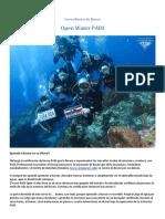 Oceanica Padi Open Water Diver 2018