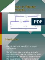 Matlab Circuit Analysis