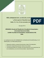 Jornadas Esc. de Filosofía 2019
