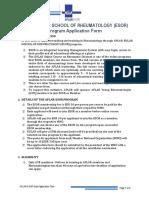 APLAR ESOR Application Form