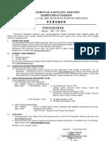 Informasi CPNS Kabupaten Kebumen 2010