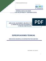 Lp462012 Especificaciones Tecnicas Fase II Us Soyapango San Salvador-sig