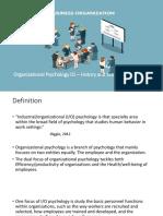 Organizational Psychology - History and Scope