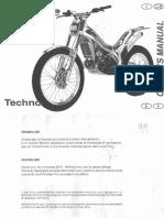 Beta Techno 250 1999 Manual de Intretinere ITALINO-InGLES