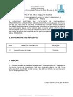 Edital 1 - Deferimento Das Inscrições