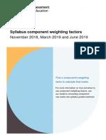 206341 Syllabus Component Weighting Factors