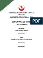 Estructura de datos y algoritmos Trabajo Final