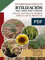 LIBRO Recomendaciones de Fertilizacion Para Paraguay Martin