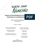 Manual de Procedimientos de Seguridad y Privacidad de La Información (MPSI)