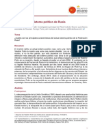 El putinismo, sistema político de Rusia