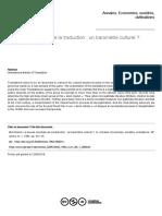 MILO, Daniel. La Bourse Mondiale de La Traduction...