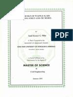 thesis on waffle slab