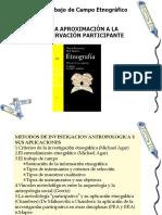 El trabajo de campo etnográfico - una aproximación a la observación participant.ppt
