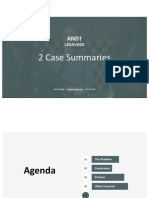 Andy LeSavage 2 Case Summaries