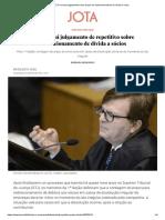 Matéria - STJ Conclui Julgamento Sobre Prazo de Redirecionamento de Dívida a Sócio