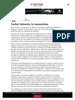 Carlos Valencia, In Memoriam - ELESPECTADOR.com