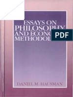 Daniel M. Hausman - Essays on Philosophy and Economic Methodology-Cambridge University Press (1992)