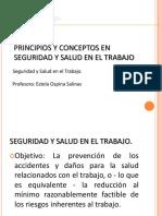 PRINCIPIOS Y CONCEPTOS EN SEGURIDAD Y SALUD EN EL TRABAJO