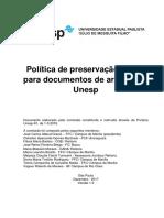 Politica de Preservacao Digital Para Documentos de Arquivo Da Unesp v 1.0