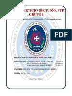Servicio DHCP, DNS, FTP