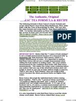 Essiac Formula- The Authentic, Original Essiac Tea Formula & Recipe
