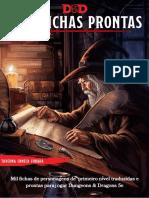 DnD 5e HB - Mil Fichas Prontas - Taverna Caneca Furada - Compacto